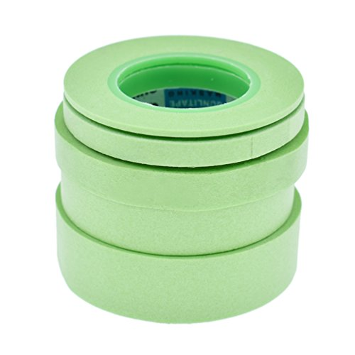 Hongma 5 Stück 2/6/10/12/18mm Abdeckklebeband Washi Tapes für Modellbau Dekor Zubehör