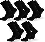 normani 10 Paar Diabetiker Ges&heitssocken Herren Socken ohne Gummi Farbe Schwarz Größe 43/46