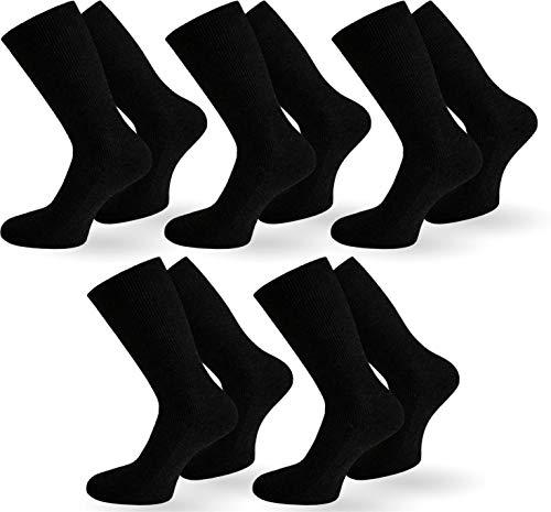 normani 10 Paar Diabetiker Gesundheitssocken Herren Socken ohne Gummi Farbe Schwarz Größe 43/46