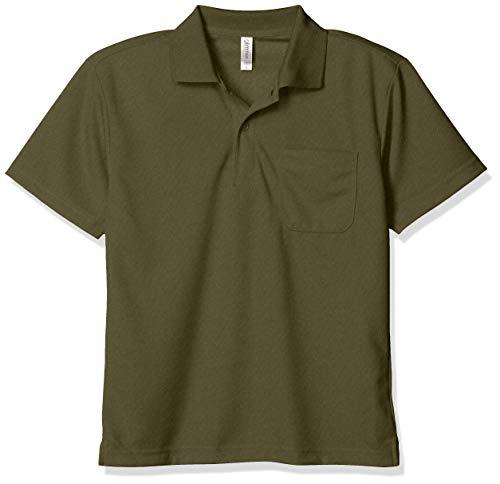 [グリマー] 半袖 4.4オンス ドライ ポロシャツ [ポケット付] アーミーグリーン 日本 L (-)