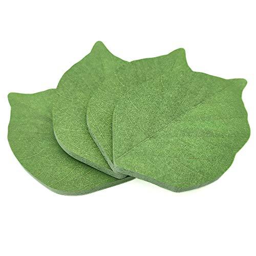 200 PáGinas De Notas Creativas De Hojas Verdes, Blocs De Notas,Materiales De Papel Para Herramientas De Aprendizaje Y Recordatorios De Registros(verde)