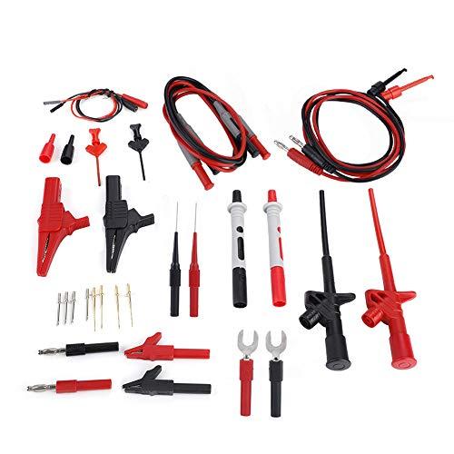 Sonda de cable de prueba duradera, cable de prueba de multímetro, alta calidad para medidor de instrumentación