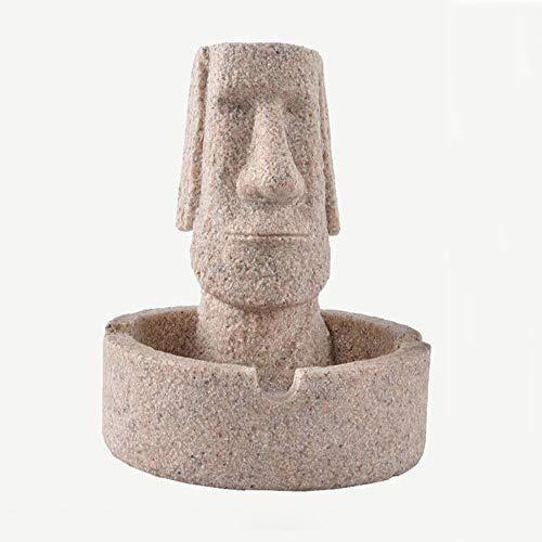 KACT Piedra de Cigarrillos cenicero Retrato Creativo decoración del hogar Cenicero