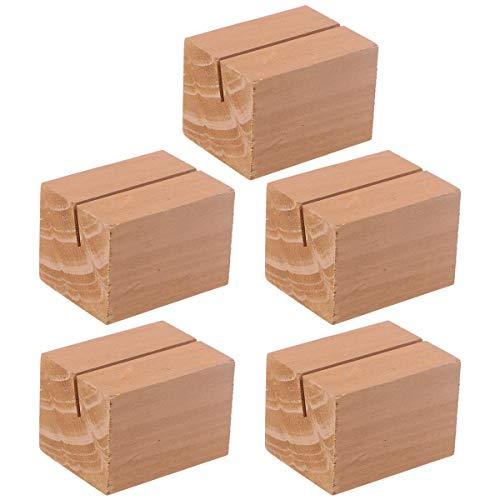 SUPVOX - Tarjetero de madera con ranura rectangular rústica (10 unidades)