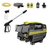 LVYUAN Pressure Washer 1200 PSI 1500W 100bar Electric BRUSHLESS Technology | Ultra Low Sound Power Efficient | Super Lightweight