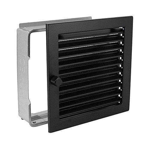 Warmluftgitter WG 2323 S Schwarz 230 x 230 mm mit Einbaurahmen