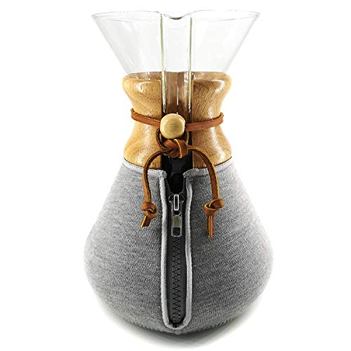 HEXNUB – Cozy Cover, Compatible with Chemex Coffee Makers, 10 Cup, Keeps Coffee Hot, Fits Collar and Handle Carafes, Ideal for Pour Over Coffee Brewing