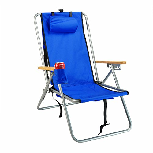 Hi-Back Deluxe Steel Backpack Chair with Storage Pouch by Rio Brands
