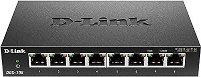 D-Link DGS-108 8-Port Gigabit Switch