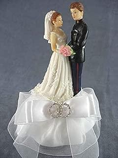 Wedding Reception Party Cake Topper Military Marine Sexy Bride