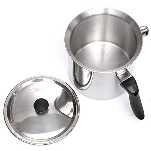 Sweet Bee Stainless Steel Double Wall Beeswax Melting Pot Wax steam Heating Pot (2.5L)