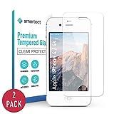 smartect Panzerglas kompatibel mit iPhone 4 / 4s [2 Stück] - Displayschutz mit 9H Härte - Blasenfreie Schutzfolie - Anti Fingerprint Panzerglasfolie