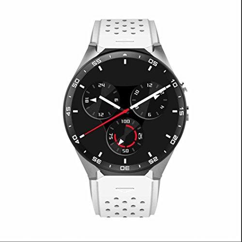 Smart Watch Sport Uhr Bluetooth Fitness Tracker Schrittzähler sweatproof Bluetooth Heart Rate Monitor HTC Monitor Sleep Monitor Smart Uhr Anrufer ID Benachrichtigung kompatibel mit Android Handy und