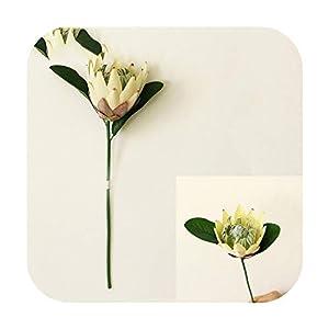 Funlife-Shop Artificial Flower Silk King Protea DIY Flower Arrangement Fake Emperor Flowers White Home Party Wedding Table Decoration