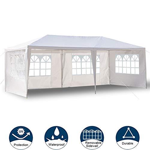 Tienda Emergente con Dosel, Refugio para Eventos Al Aire Libre 10 X 20 Pies con Pared Lateral Móvil Refugio para Eventos Emergente Impermeable Cenador Portátil para Fiestas Instantáneas