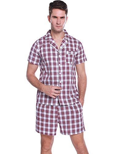 Hawiton Pijama Hombre Verano Corto Manga Corta Conjunto