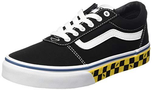 Vans Ward Canvas, Sneaker, Check Sidewall Nero Giallo, 36 EU