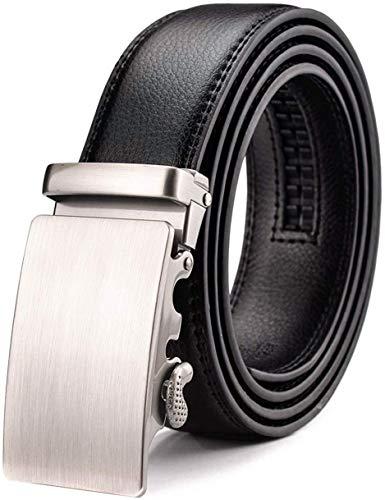 WETOPER Herren Gürtel Ratsche Automatik Gürtel für Männer 35mm Breit Ledergürtel, Type:25, Länge 130cm Geeignet für 28-45 taille