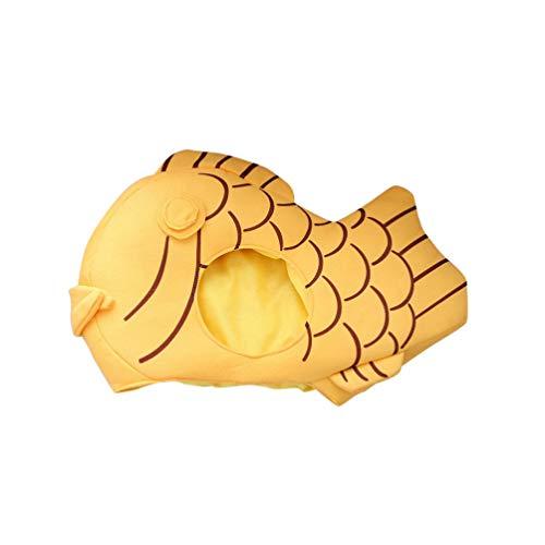 Amosfun Cappello di Peluche Cappello Divertente Cartone Animato Cappello Taiyaki Cappello Testa di Pesce Cappello Animale per Puntelli Cosplay di Carnevale