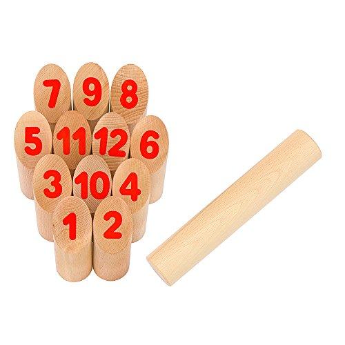 Goki 56853 - Wikingerspiel - Number Kubb im Baumwollbeutel