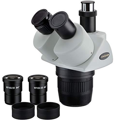 AmScope SW13T 10X-30X S-per Widefield est-reo trinocular microscopio Head