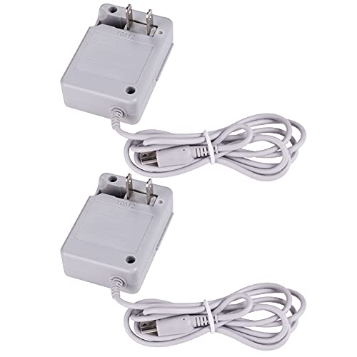 DTOL AC Adapter Game Charger for Nintendo Dsi Ndsi 3DS/3DSXL/New 3DS/New 3Dsll/2DS/Dsi/Dsixl 2 Pack