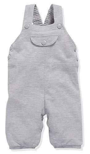 Schnizler Unisex-Baby Sweat-Latzhose Babyhose, Grau (Grau/Mela), 56