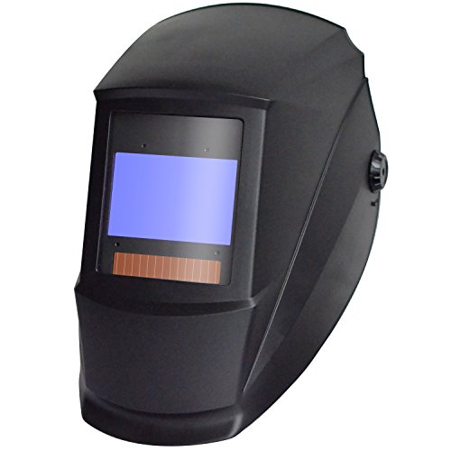 Antra AH7-X80-0000 Digital Controlled Solar Powered Auto Darkening Welding Helmet Wide Shade 4/5-9/9-13 with Grinding Feature Extra Lens CoversGreat for TIG, MIG, MMA, Plasma