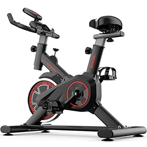 YHRJ Bicicletas estáticas silenciosa para Gimnasio en casa,Bicicleta de Spinning para Entrenamiento de pérdida de Peso,Bicicleta de Pedal Ajustable,Puede soportar 150 kg