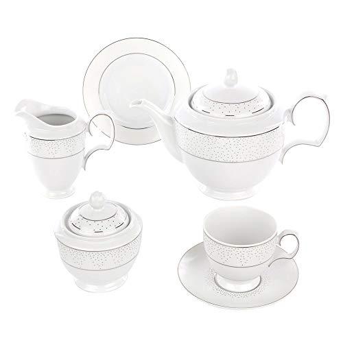Kaffeeservice Teeservice Tassen mit Untertassen MariaPaula Chodziez Snow (39 tlg. 12 Personen Kaffeeservice)
