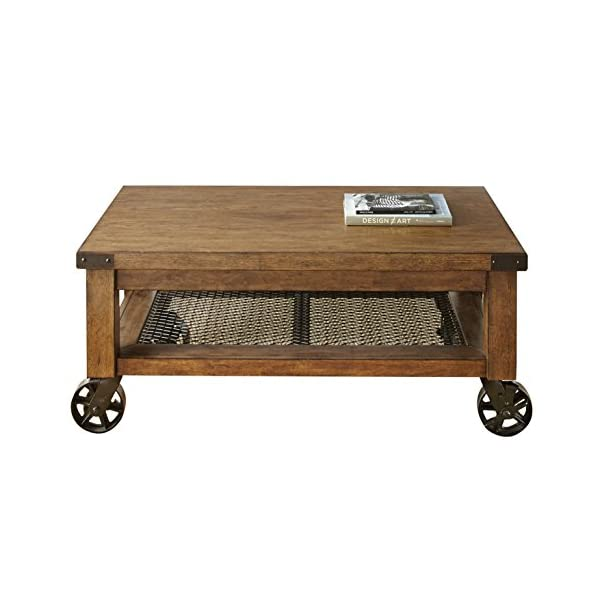 Steve Silver Company Hailee Table, Disteressed Oak Finish