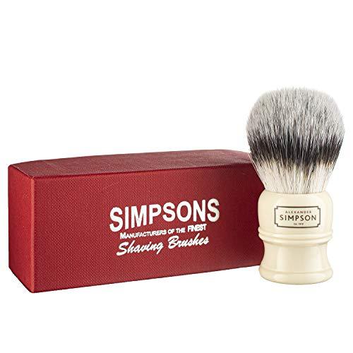Alexander Simpson Trafalgar Synthetic Shaving Brush - Simpson Shaving Brushes - Faux Ivory Handle (T2)