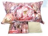 Mirabello Completo Lenzuola Matrimoniali in fine Percalle di Cotone, Effetto copriletto con Doppia Balza Art. Evanescent Rose (Rosa R09)