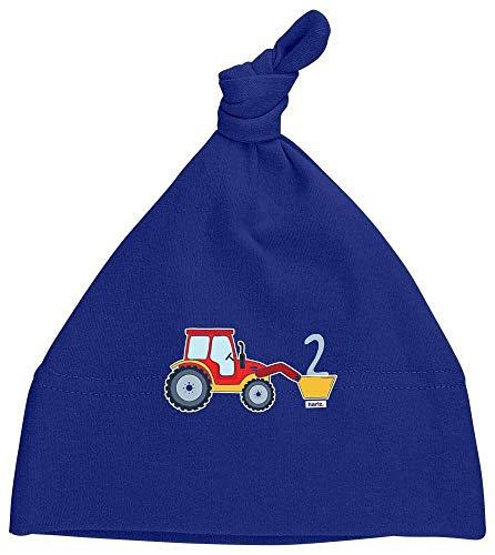 Hariz - Gorro para bebé con diseño de tractor y 2 cumpleaños azul Azul Oscuro
