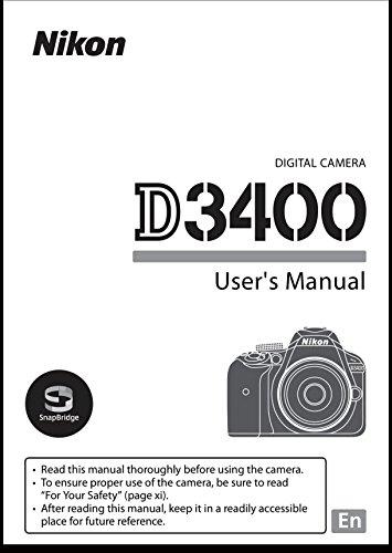 Nikon D3400 User's Reference Manual