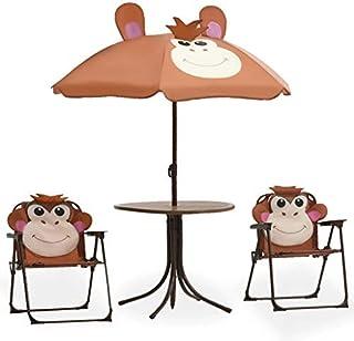 Tavolo da Appendere a Sospensione Giardino Esterno GOTOTO Tavolino da Balcone di Mosaico Pieghevole in piastrella e Ferro 76 * 63.5 * 56cm Tavolo Sospeso