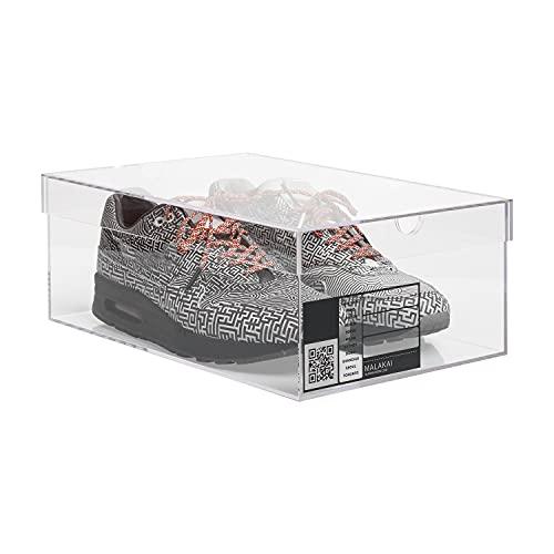 MALAKAI – Boîte sneakers transparente, en plexiglass, Sneakers box plexiglas, Rangement chaussures, Gain de place, Exposition collection, Modèle premium, Accessoire addict transparent, decoration