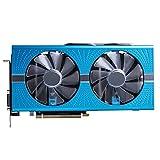 Fit for Sapphire RX 590 580 8 Go Cartes Graphiques GPU Radeon RX580 RX590 GME 8 Go Nitro AMD Carte Vidéo Ordinateur De Bureau Écran Carte De Jeu D'ordinateur(Color:S-RX590-GME-8GB)