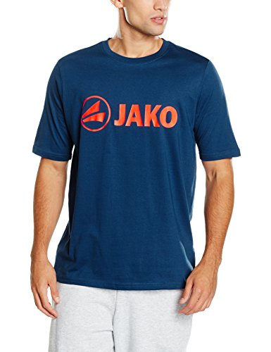 JAKO Herren T-Shirt Promo, nightblue/flame, 4XL