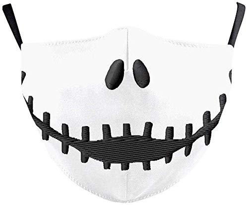 SKSNB Máscara de Halloween La Pesadilla Antes de Navidad Jack Skellington mascarilla para Adultos Halloween Cosplay Disfraz Hombres Accesorios máscaras A