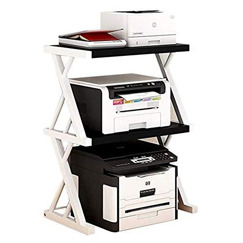 Soporte de ordenador Estantes impresora estante de la mesa de oficina Estantería de almacenamiento de copia doble creativas de la máquina de fax Soporte de escritorio Organizador de hogar y oficina pa