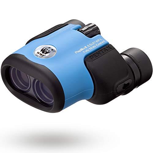 PENTAX 双眼鏡 PAPILIOII 6.5×21 WF-L ブルー WWF(世界自然保護基金)支援モデル 環境保護活動を支援できる双眼鏡 最短50cmでピントが合う単眼鏡としても使える2way双眼鏡 美術館 フルマルチコーティング 高級プリズムBak4搭載 メーカー保証1年 ペンタックス 62006
