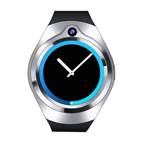 S216 3G GPS Smart Watch Telefon 1,39 Zoll Android 5.1 MTK6580 Quad Core 512 MB RAM 8 GB ROM 2.0MP Kamera Blautooth Pulsmesser Uhr Unterstützung WiFi GPS Blautooth SIM (Silbergrau)
