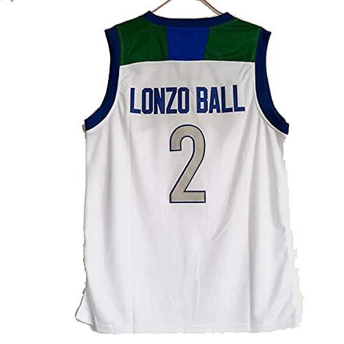 QIMEI Lonzo Ball #2 High School Basketball Movie Jersey for Men Women Youth c1