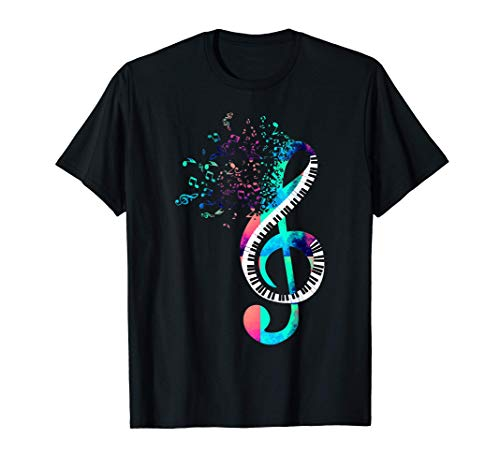 Música Clave De Sol Regalo Para Pianista Orquesta Piano Camiseta