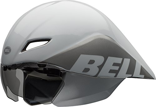 BELL Helm Javelin 16 Team Casque Unisex-Adult, Blanc/Argent, S 51-55cm