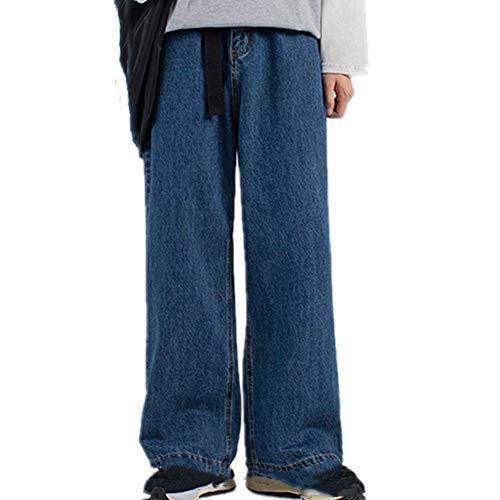 N\P Pantalones anchos de mezclilla holgados para hombre