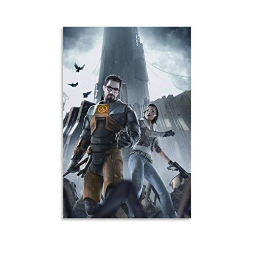 weqwe Póster de Game Half Life con 5 lienzos y arte de pared, diseño moderno de la familia de 40 x 60 cm