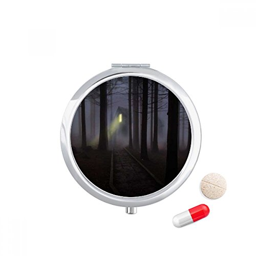 Caixa de comprimidos Night Dark Forestry Science Nature Scenery Pocket Medicine Storage Box Dispenser