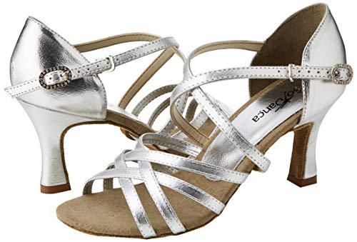 So Danca Damen Bl164 Standard-& Latintanzschuhe, Silber Silver, 37 EU - 5